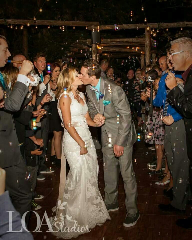 Wedding, bubble send off, grand exit, outdoors (With