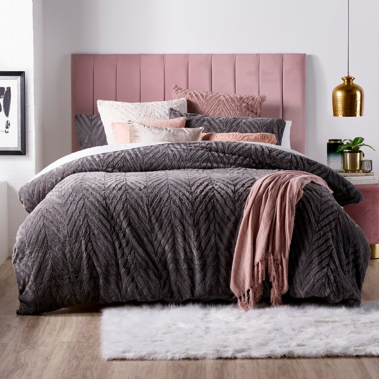 Jardin Quilted Velvet Quilt Cover: KOO Luxe Teddy Quilt Cover Set