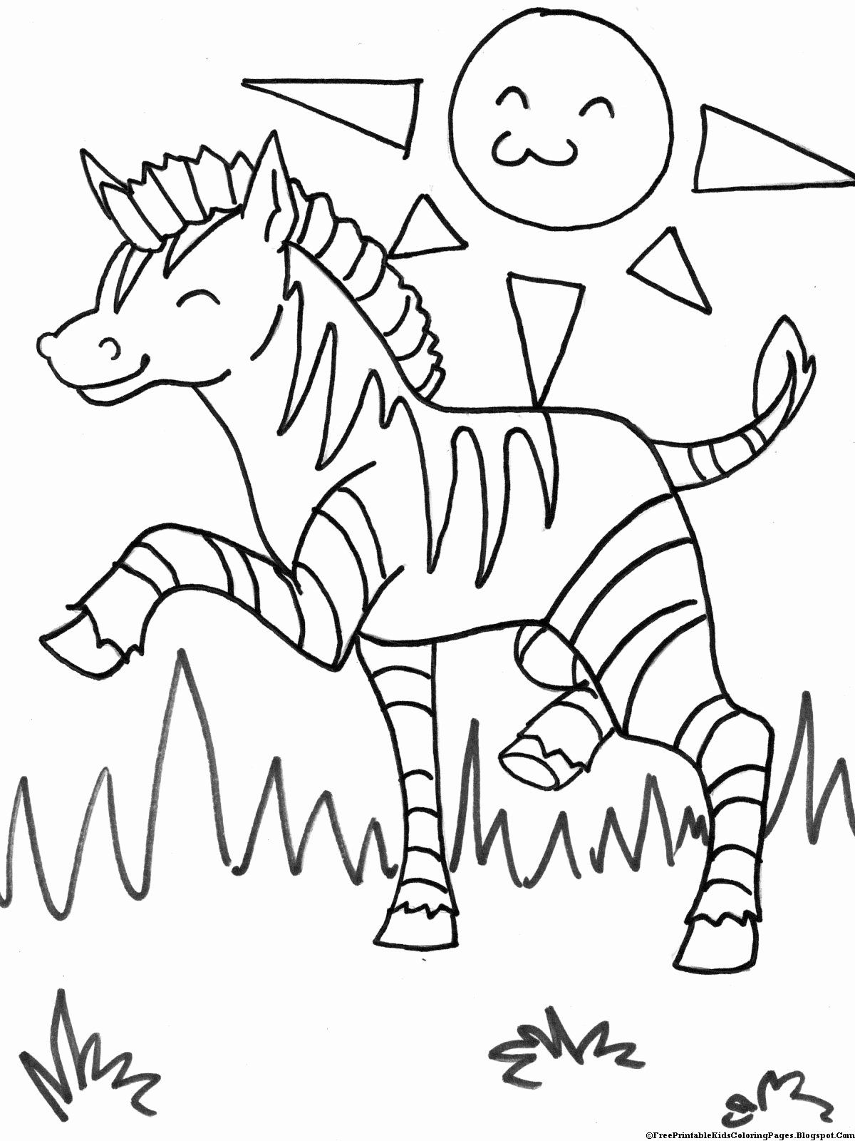 Free Zoo Animal Coloring Pages Inspirational Zebra Coloring Pages