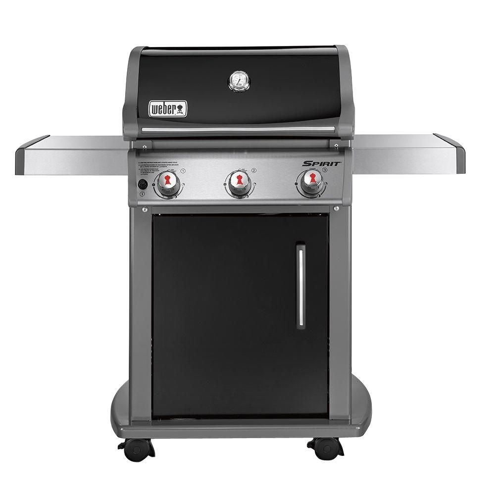 Weber Spirit E 310 3 Burner Natural Gas Grill In Black With Built In Thermometer 47510001 Natural Gas Grill Weber Gas Grills Gas Grill Reviews
