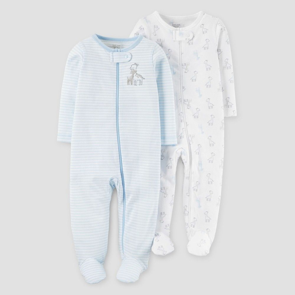 Baby Boys' 2 Pack Sleep N Play Giraffe Blue 9M - Just One You Made by Carter's, Infant Boy's, Size: 9 M