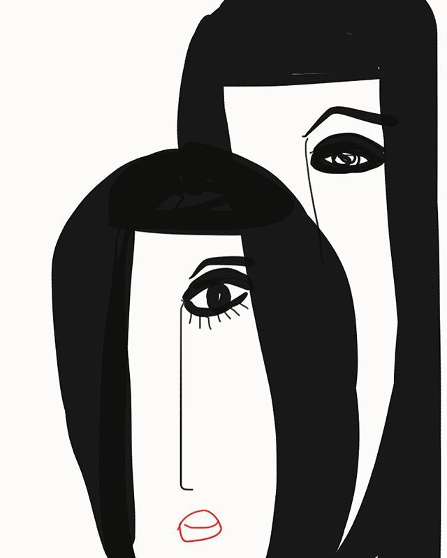 Hiding behind or being supportive? You decide. #thefutureisfemale #woman #abrimfulofasha #illustration #blogger #love #madewithpaper #sketchoftheday #artoftheday #thoughts #sketch #newyork #fun #eyes #style #people
