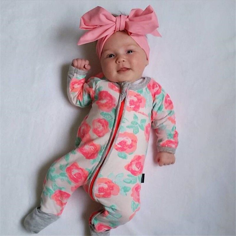 8f7492546b Autumn Winter Newborn Baby Clothes 2016 Baby Girl Clothing Jumpsuit Romper  Infant Costume Kids Sleepwear Pajamas Bebes Onesie-in Rompers from Mother    Kids ...