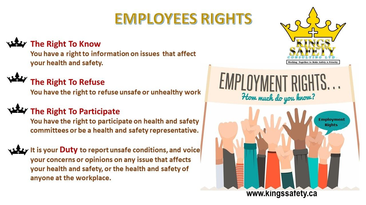 Employees must aware of their rights in the workplace to