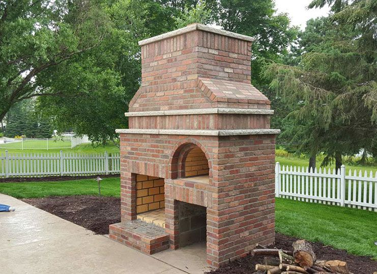 Outdoor fireplace wood fired pizza oven by brickwood - Outdoor kitchen pizza oven design ...