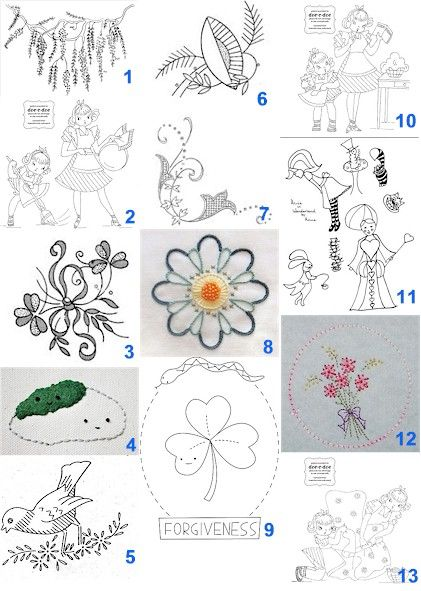 Free patterns: Hand embroidery | Stitching patterns, Hand embroidery ...