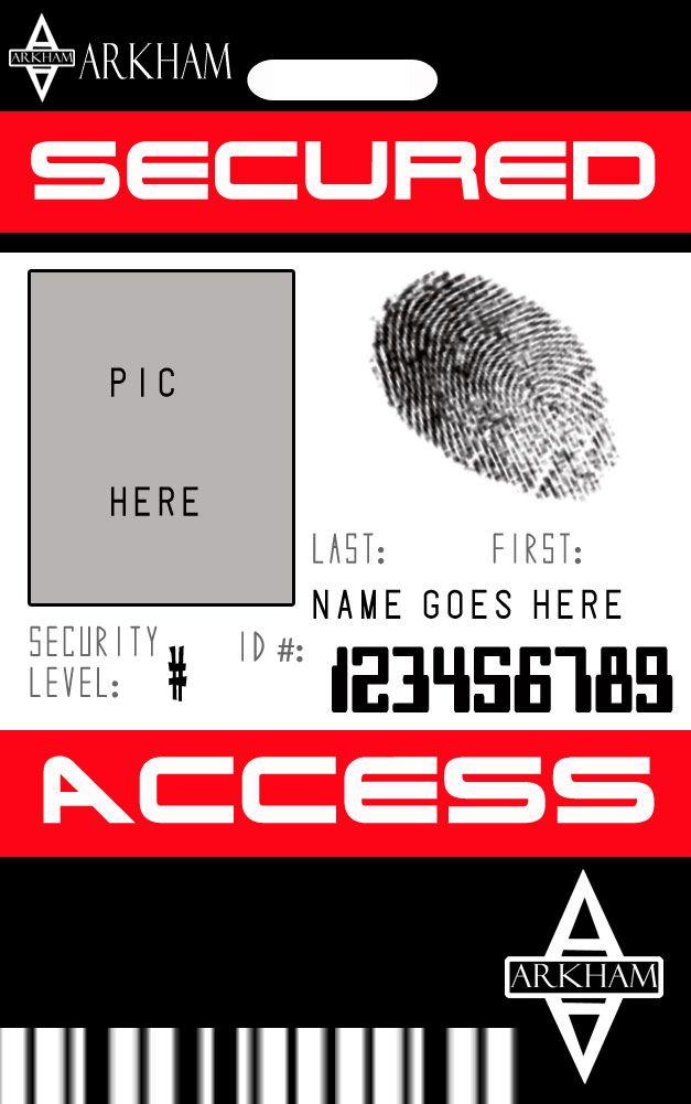 Arkham Badge Template By Zanderyurami On Deviantart Badge Template Id Card Template Templates