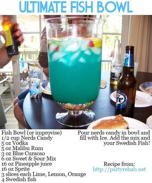 Fish Bowl Recipe, Fishbowl Drink, Nerds