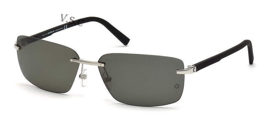8b63044409 MONT BLANC MB465S SUNGLASSES 465S RIMLESS SUN GLASSES METAL FRAME 16R  POLARIZED  MONTBLANC  Rectangular