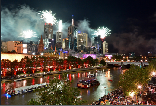 Happy New Years Eve Celebration in Melbourne New year