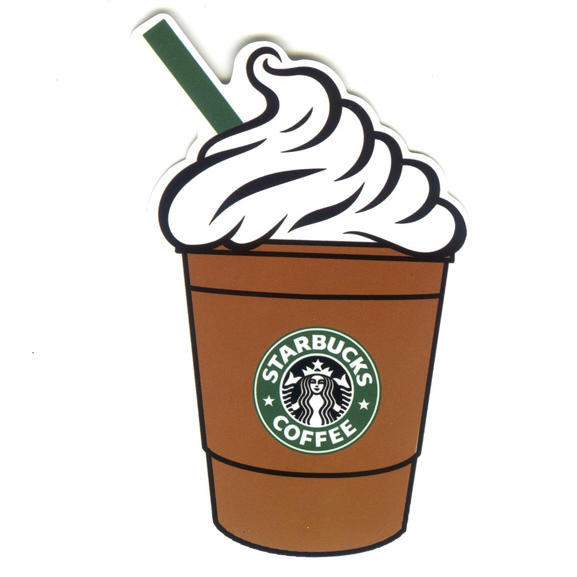 1320 Starbucks Coffee Cappuccino Height 9 Cm Decal Sticker