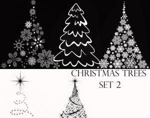 Christmas Tree Brushes Set 2 Photoshop Brush Photoshop Brushes Free Free Photoshop Photoshop