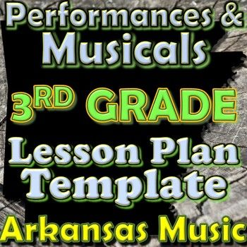 3rd Grade Performance/Musical Unit Lesson Plan Template Arkansas - unit lesson plan template