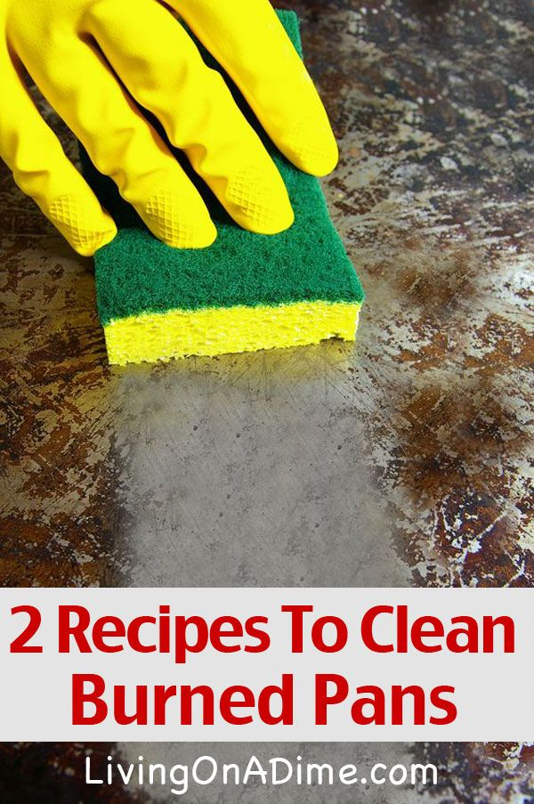 2 Recipes To Clean Burned Pots And Pans Cleaning Hacks