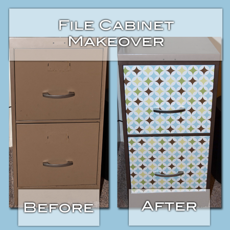Spray paint ugly file cabinet to match brown in contact for What kind of paint to use on kitchen cabinets for pop art wall decals
