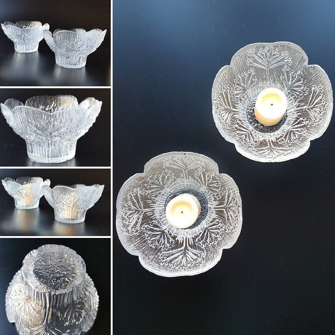 Finnish Lasisepat Glass Votives By Pertti Kallioinen In The 1980s Cow Parsley Pattern Just Added To My Ebay Store With Images Glass Art Votive Holder Danish Modern