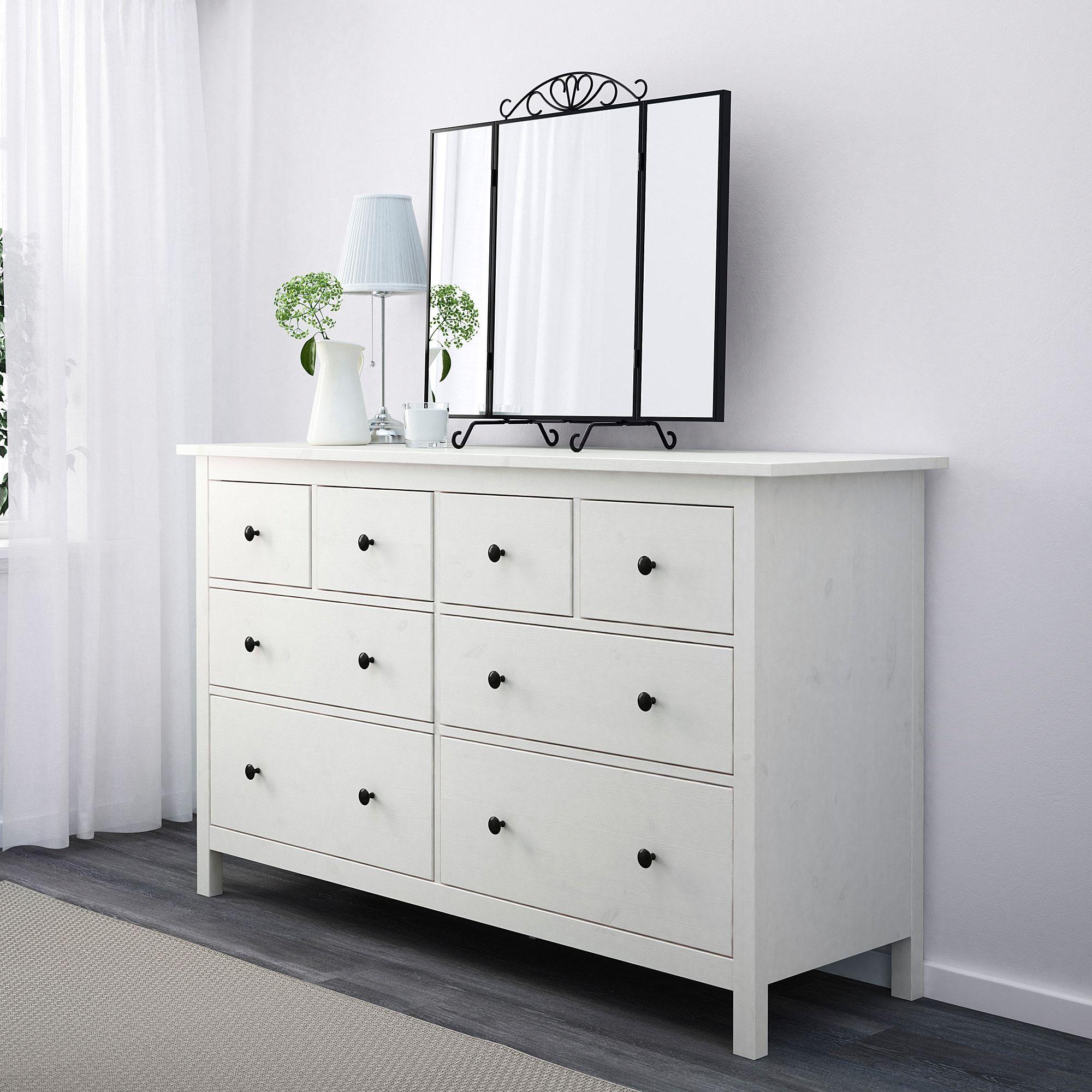 Hemnes Commode 8 Tiroirs Teinte Blanc 160x96 Cm Ikea 8 Drawer Dresser Ikea Hemnes Dresser White Dresser With Mirror [ 2000 x 2000 Pixel ]
