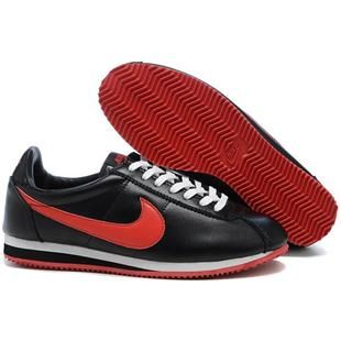 new concept dee3a 738f3 Men Nike Cortez Leather Black Red