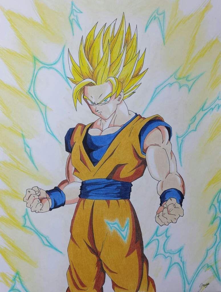 Dibujos De Goku Ssj 2 Dibujos D Amor Dibujo De Goku Goku Ssj 2 Dibujos