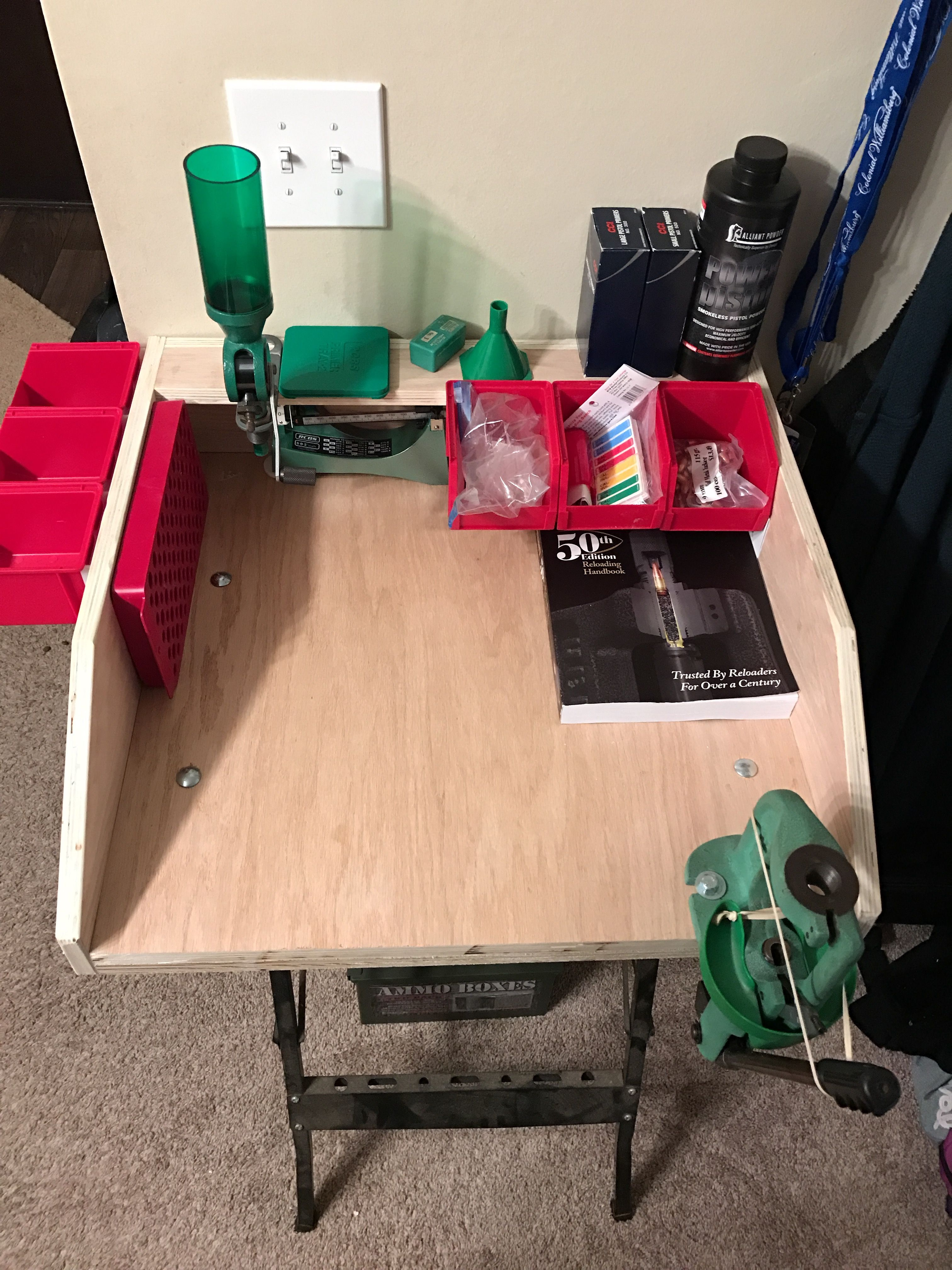 design free portable reloading home bench plans ideas