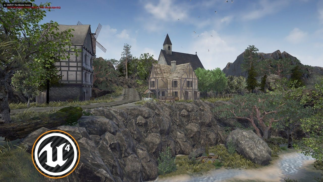 Speed Level Design - Medieval Village - Unreal Engine 4 (Free assets