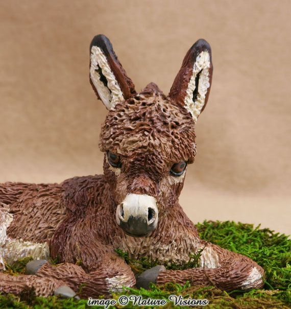 Donkey Figure Model Animals Figurine Model for Living Room Decor Ornaments
