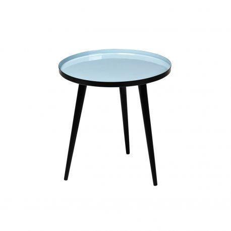 Table basse Ronde bleue style vintage Jelva @brostecph
