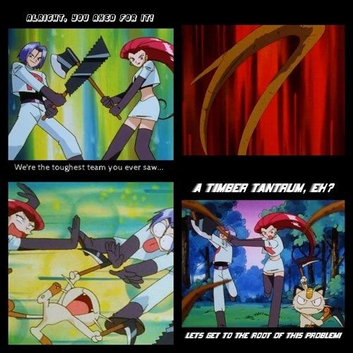 Team Rocket's Puns Have Really Branched Out.