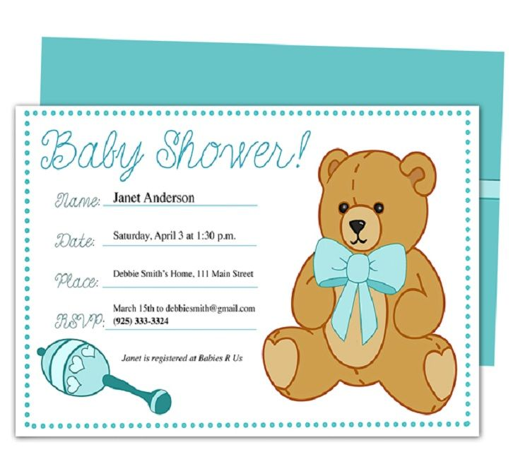 Examples Of Baby Shower Invitation Cards Buick