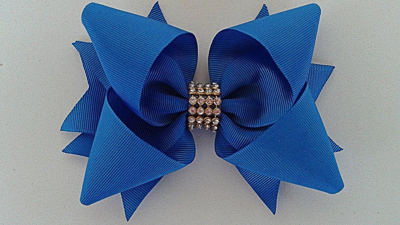 Laço Boutique Invertido - Laço de Fita de Gorgurão/Cetim - Twisted Boutique  Bow -