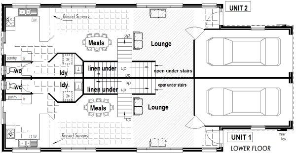 Australian Townhouse Duplex 2 x 3 Bedroom Narrow Block ...