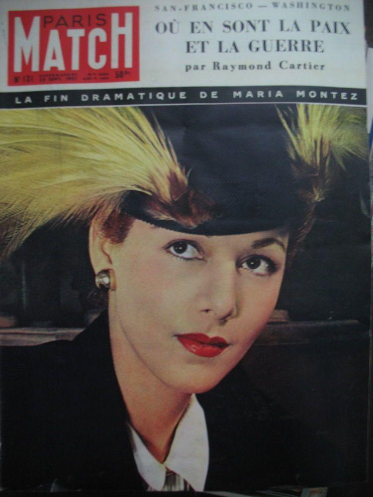 N° 0131 MARIA MONTEZ CORéE MANUFACTURE DE SEVRES BOXE ROBINSON PARIS MATCH 1951