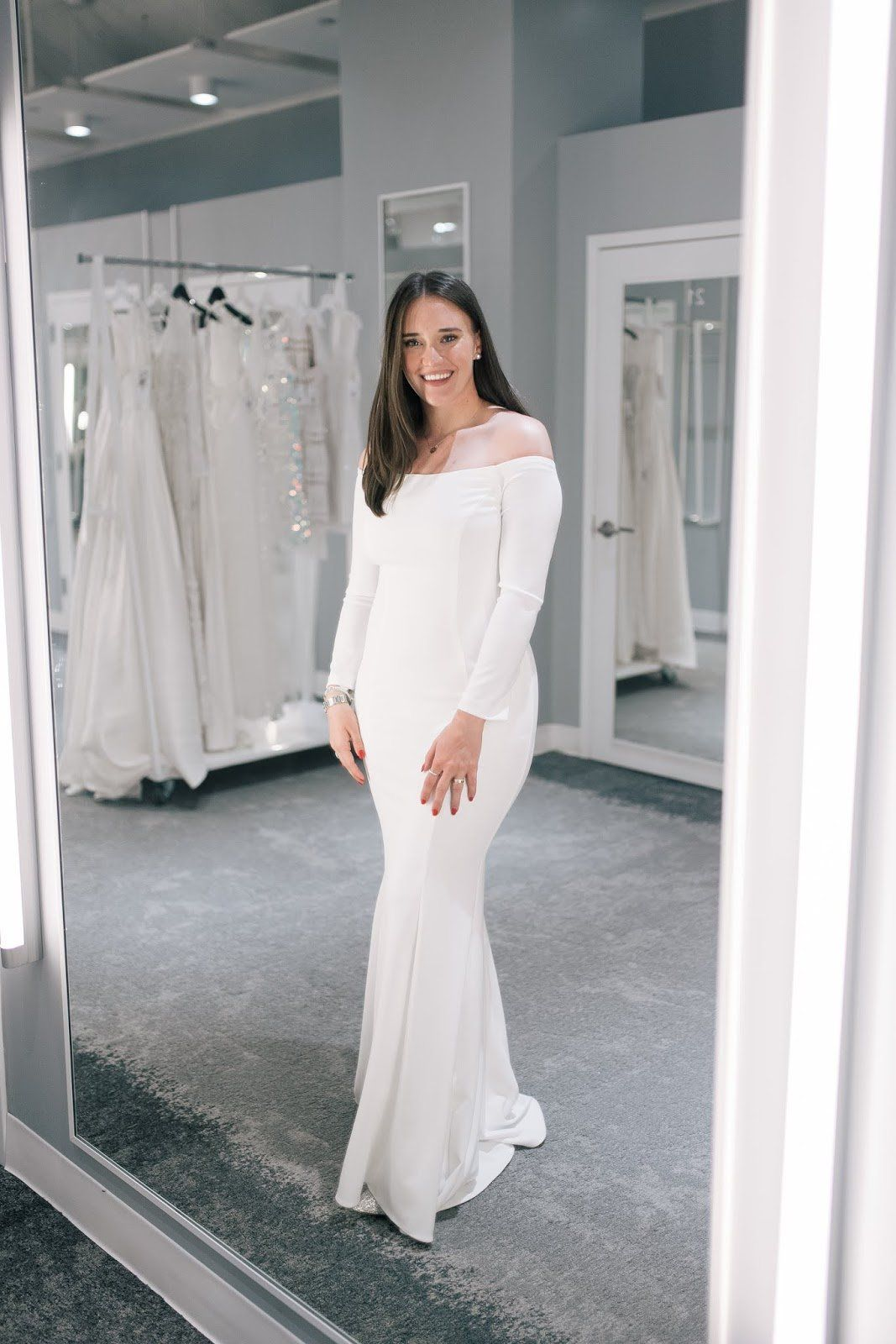Second Dress Shopping With David S Bridal Rehearsal Dress Wedding Rehearsal Dress Dresses [ 1600 x 1067 Pixel ]