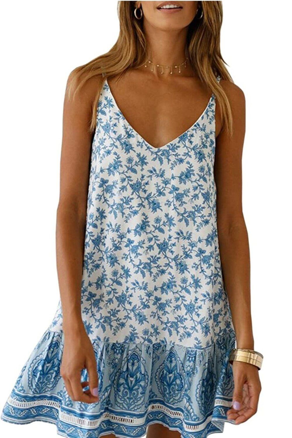 Let S Go Shopping Affordable Amazon Summer Finds Christie Ferrari In 2020 Beach Wear Dresses Simple Summer Outfits Spaghetti Strap Mini Dress