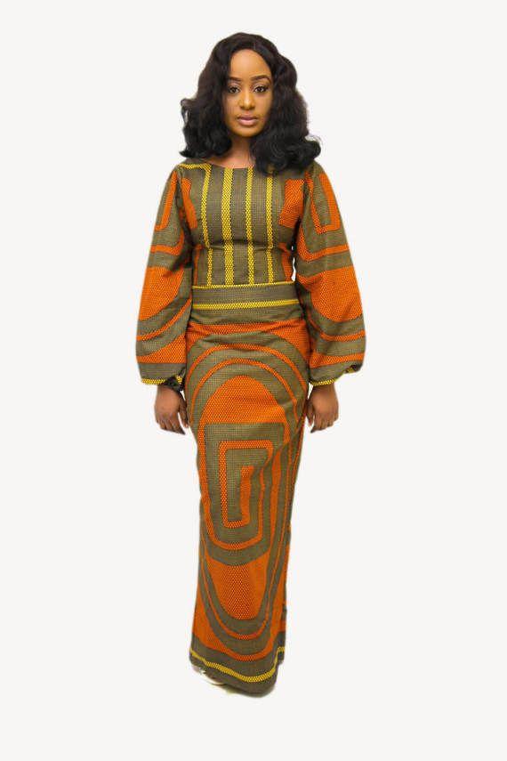 404550b4f2d The DEE dress ankara african print african clothing