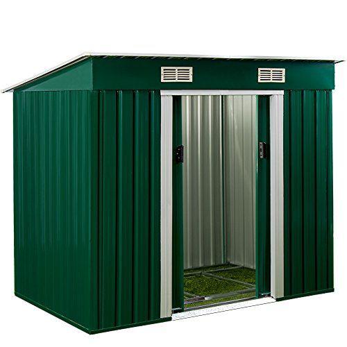 Abri De Jardin En Metal Cabane A Outils Incl Fondation Avec Ventilation 3 35m Abri De Jardin Abri Rangement Jardin