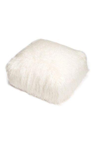 White Mongolian pouf #whitehot