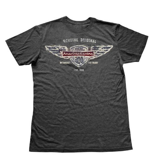 AMERICAN RACING WINGED HOT ROD HEATHER TEE
