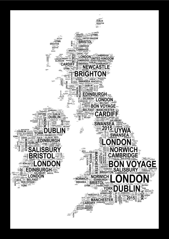 Personalised country map uk australia thailand or italy word personalised country map uk australia thailand or italy word art print free uk pp gumiabroncs Choice Image