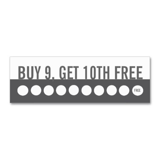 Customer Loyalty Business Card Buy 9 Get 1 Free Zazzle Com Customer Loyalty Cards Loyalty Card Template Customer Loyalty