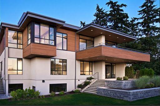 Wood And Stucco Modern Home Modern Homes Arquitectura