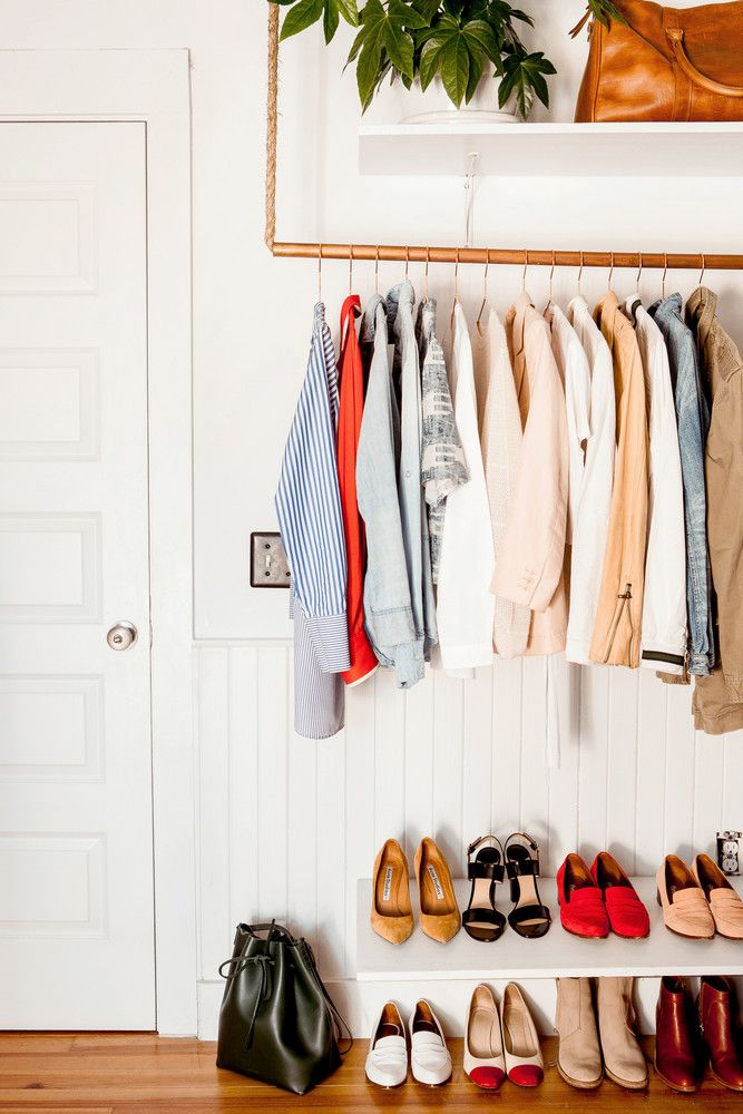 DIY Exposed Closet