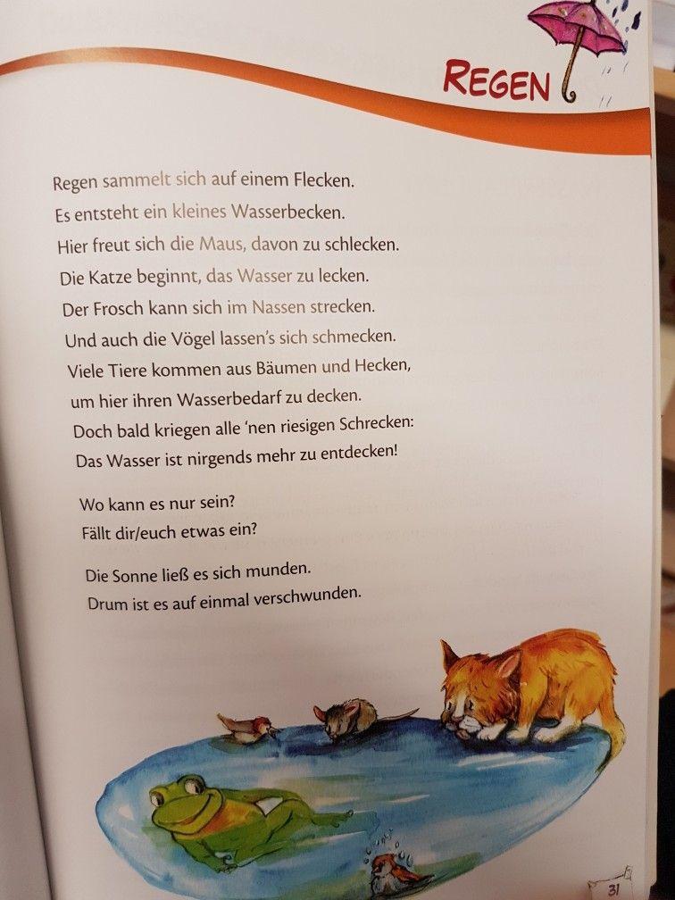 Regen #Gedicht #kita #kindergarten #erzieher #reim #wetter #krippe ...