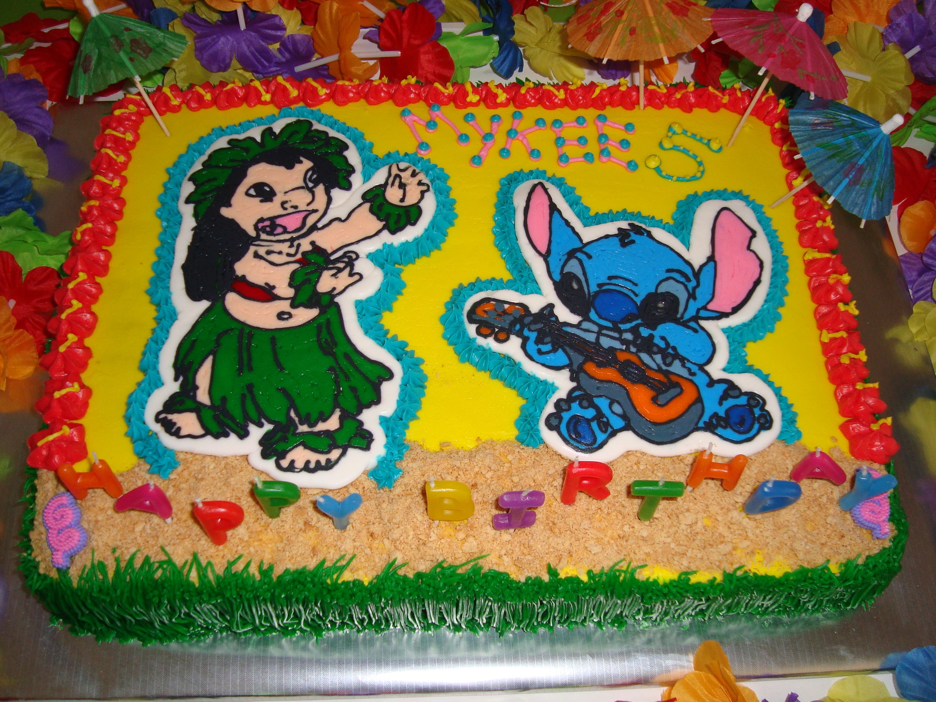 Lilo Stitch Birthday Cake Diva Design Custom Cakes Cakes