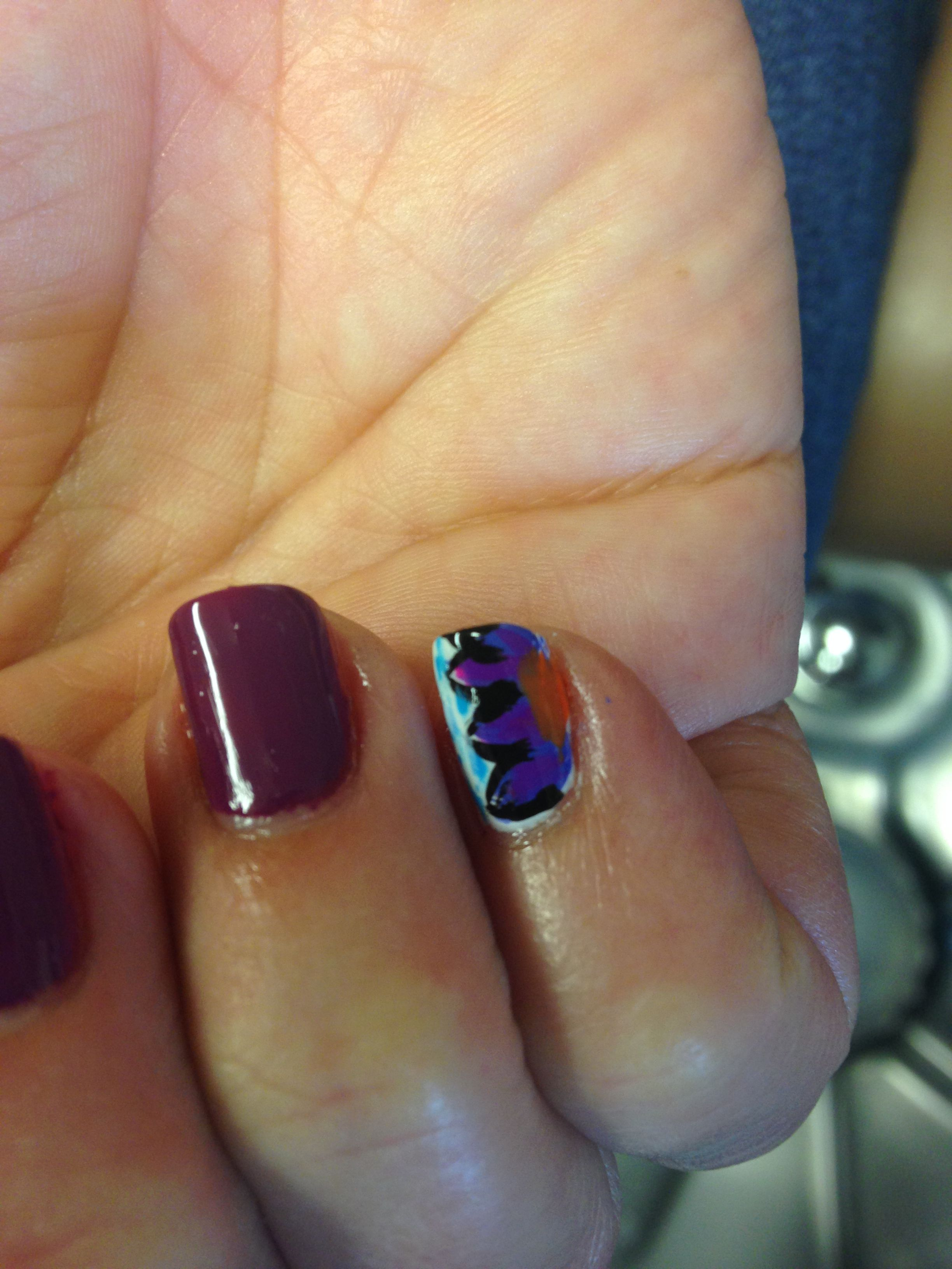 A perfect accent nail design come to the jackie o salon