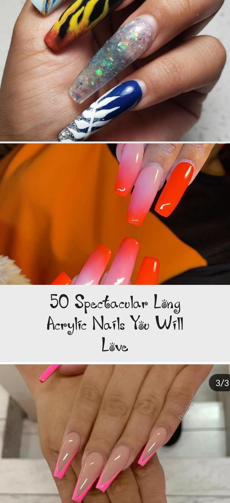 50 Spectacular Long Acrylic Nails You Will Love Long Acrylic Nails Acrylic Nails White Acrylic Nails