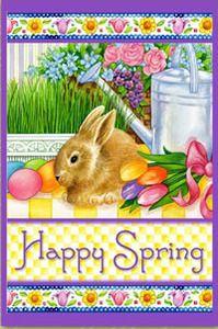 Happy Spring Easter Garden Flag | eBay