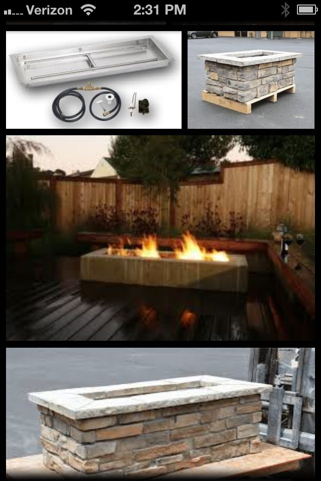 Google Rectangle Fire Pit Yard And Garden Deck Fire