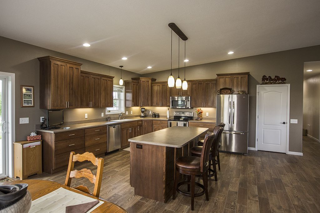 Morton Buildings Custom Home Interior In Lenox Iowa