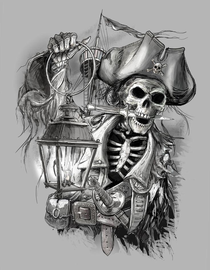 Pin By David Harp On Tattoos Pinterest Pirate Tattoo Pirate